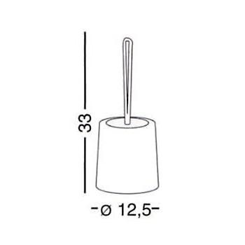 8034 Scopino con ciuffo in setole; Dimensioni: Ø 12.5 x 33 cm GED000080340200300