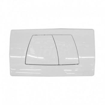 Placca di comando con doppio tasto colore bianco GEB115.888.11.1