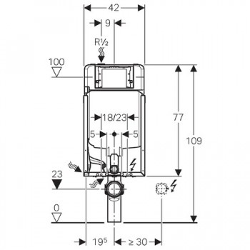 COMBIFIX ITALIA SIGMA8 fissaggio per wc sospeso 109cm GEB110.790.00.1