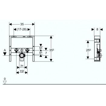 COMBIFIX ITALIA fissaggio per bidet sospeso GEB457.608.00.5