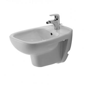 D-Code Bidet sospeso  con troppopieno, con bordo per rubinetteria, dimensione 355 x 545 mm bianco DUR2257150000