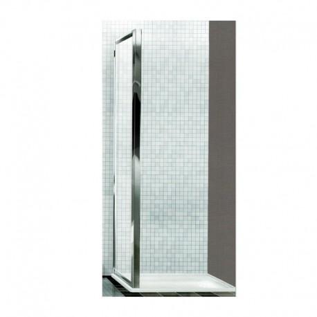 Lato per comporre box ad angolo, colore argento lucido, cristallo 6 mm trasparente, H 195 mm BOXE4K0ATR4.0910