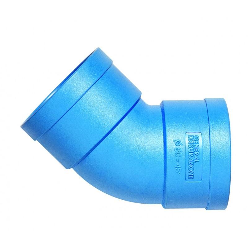 Curva GDA FF Ø 50 blu GEN0701022