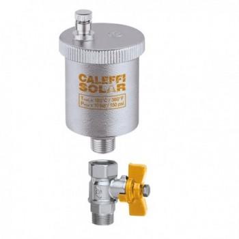 "250 valvola sfogo aria ø3/8""M 5bar + rubinetto ottone cromato CAL250131"