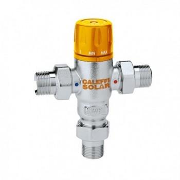 """2521 SOLAR Miscelatore termostatico regolabile ø3/4"""" 30÷65°C con valvola 252153 - Regolazione a punto fisso"""