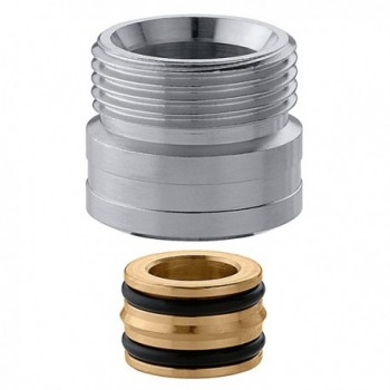 """383 raccordo collegamento cromato a tenuta o-ring ø23/1,5x3/4""""M CAL383551"""