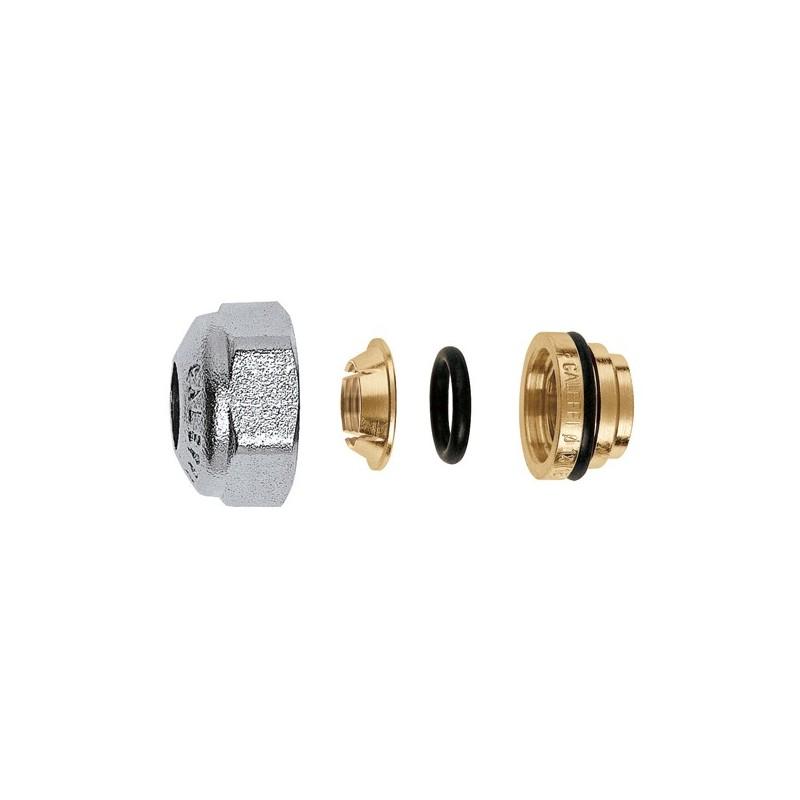 437 raccordo meccanico cromato a tenuta o-ring ø23/1,5x12 per rame CAL437012