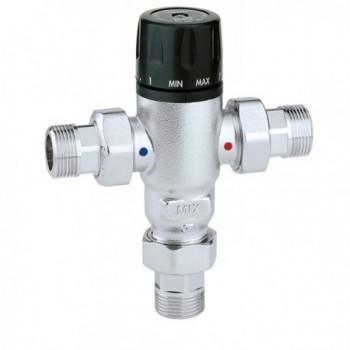 """521 Miscelatore termostatico regolabile ø3/4"""" 30÷65°C con valvola ritegno 521503 - Regolazione a punto fisso"""