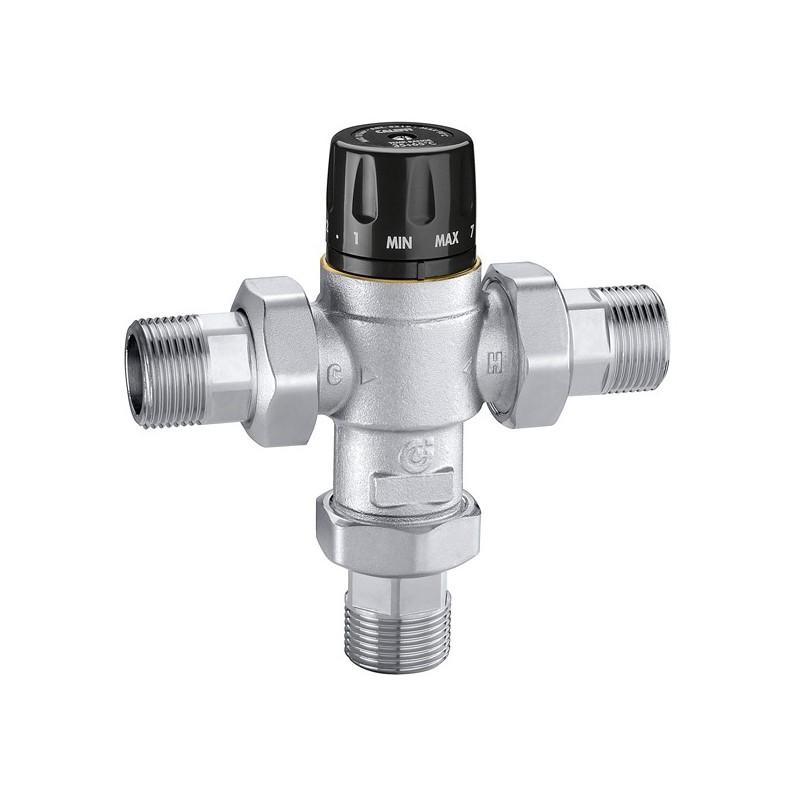 """5219 Miscelatore termostatico regolabile ø1"""" 35÷65°C S/RIT. cromato CAL521936"""