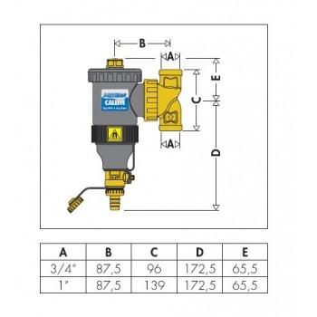 "5453 DIRTMAG defangatore con magnete ø1""F 545306 - Sicurezza/Vasi/Centrale termica"