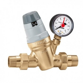 """5350 riduttore di pressione ø1.1/4""""x1"""" con manometro 0÷10bar CAL535075"""
