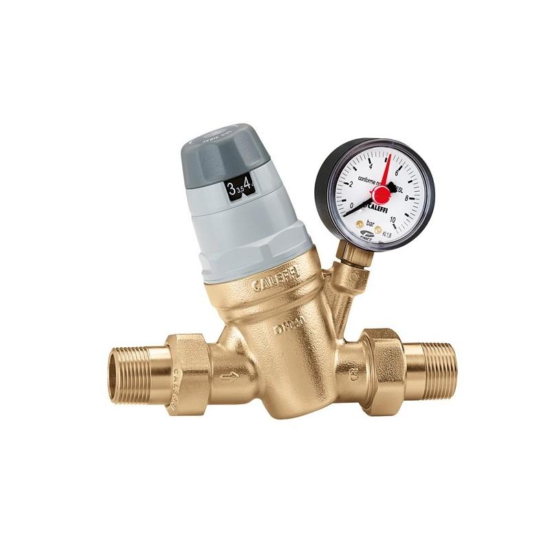 """5350 riduttore di pressione ø1.1/4""""x1"""" con manometro 0÷10bar 535075 - Riduttori di pressione"""