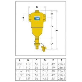 """5462 DIRTCAL defangatore ottone ø1.1/2""""F 546208 - Sicurezza/Vasi/Centrale termica"""