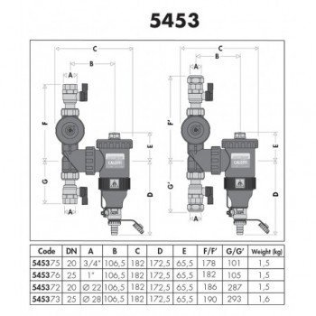 "5453 DIRTMAGPLUS defangatore ø3/4""F con magnete + filtro 545375 - Sicurezza/Vasi/Centrale termica"