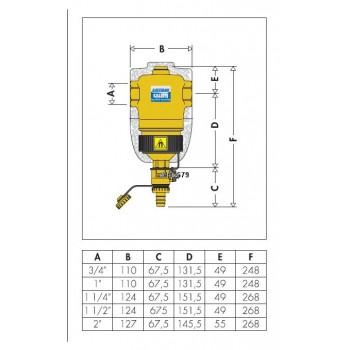 "5463 DIRTMAG defangatore coibentato magnete ottone ø1.1/4""F CAL546317"