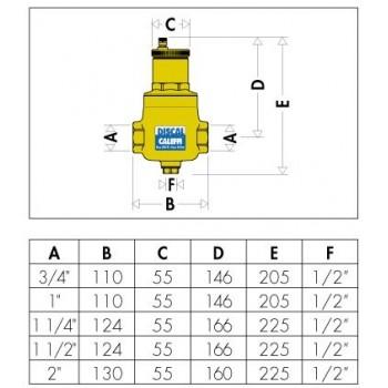 """551 DISCAL disaeratore con scarico ottone ø1.1/2""""F 551008"""
