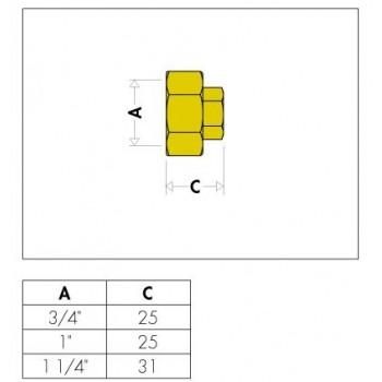 """5993 tappo ø3/4""""F per collettori SERIE 349-350-592 599350 - Collettori di distribuzione"""