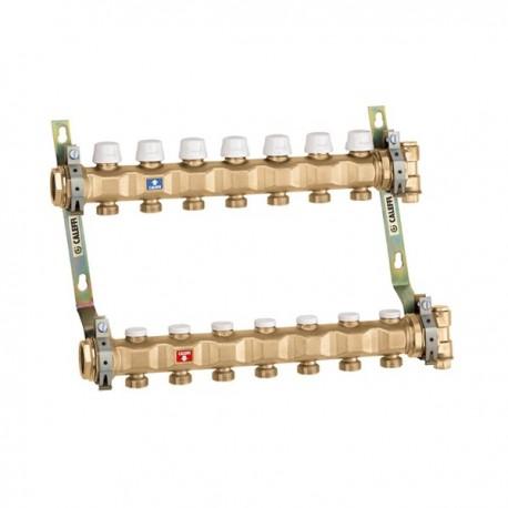 """663 collettore premontato ø1.1/4"""" 3DER. ø3/4""""M 6637C5 - Collettori per pannelli radianti"""