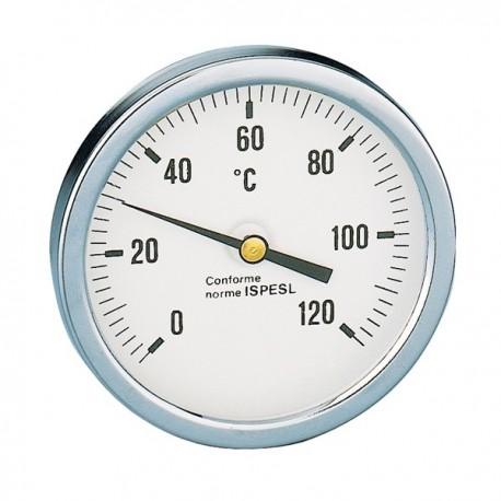 """688 termometro con attacco posteriore ø1/2"""" L.100mm CAL688010"""
