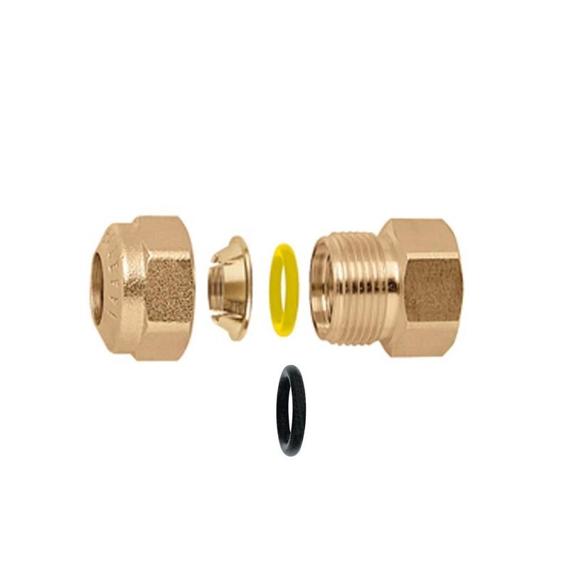 """900 raccordo diritto femmina con o-ring ø1/2""""x18 per rame CAL900418"""