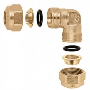 9050 gomito INTERM. con o-ring ø22 per rame CAL905022