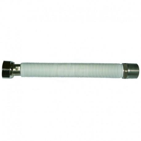 Flessibile estensibile uni 7129 1/2 mf 90/130 con guaina bianca 00000016112 - Flessibili inox per gas