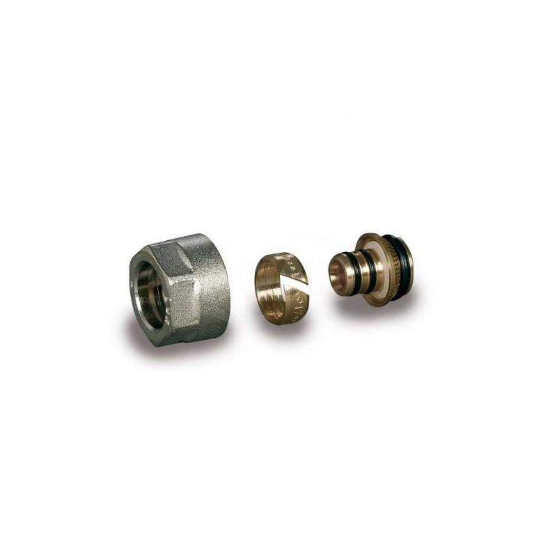 Tp 99 raccordo Tubo polietilene rivestito Eurocono  diam.20X2  nichelato LUX67862016