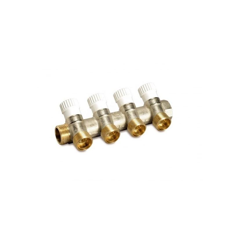 Cp 454 collettore componibile valvola Interc. 3/4Mf4 Att.3/4Ek nichelato 68512804