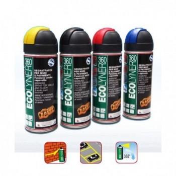 ECOLYNER 360° Vernice spray a rapida essiccazione, segna tracce spray nero 400ml FACECOLY360NE0400