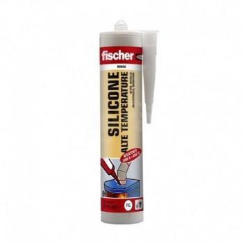 Fischer silicone alta temperatura fino 350° SAT RO - sigillante siliconico a base acetica resistente alle alte temperature fi...