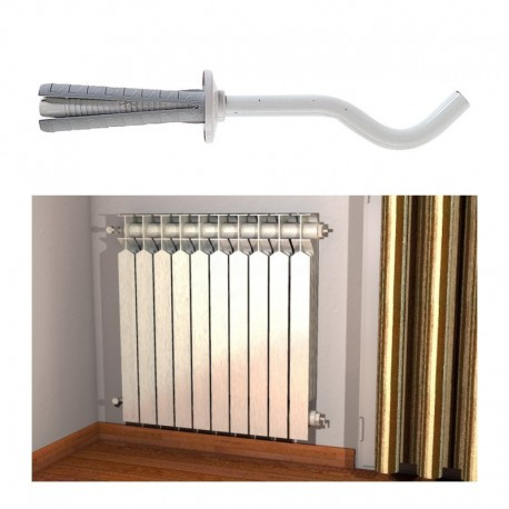 TF 8/100B Mensole per radiatore in alluminio. Mensole TF 8 B per radiatori in alluminio e acciaio, esecuzione verniciata bian...