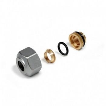 R178 raccordo adattatore per tubo rame ø16x12mm R178X013 - In ottone filettati