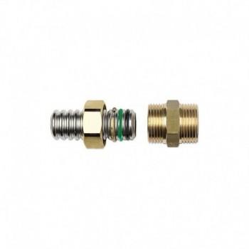Raccordi filettati M in ottone ad innesto rapido con doppio O-ring A03-0001-01501 - Mecc. ad innesto rapido