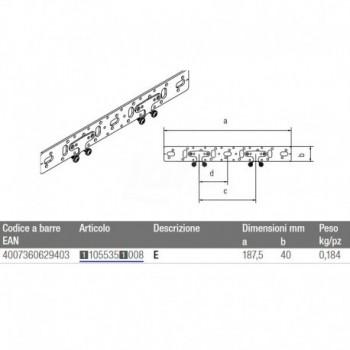 Staffa 75/150 per il fissaggio doppio 11055361008 - Collari/Staffe/Mensole