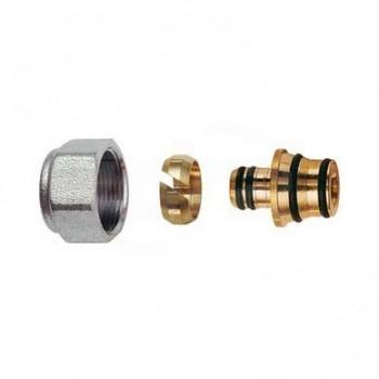 6055 raccordo adattabile per tubo multistrato ø16,2x2,6 dado cromato RFR6055 58278