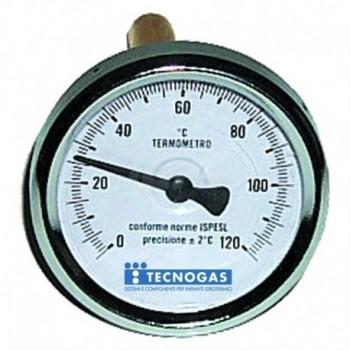 Termometro bimetallico 0/120 post.d.80 gambo 00000R02959 - Temperatura