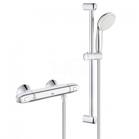 Grohe Grohtherm 1000 - Set doccia 600 mm con miscelatore termostatico, cromato GRO34151004