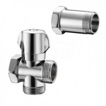 """554 rubinetto lavatrice con distanziatore Ø 3/4""""f x 3/4""""m x 3/4""""m PIA05540500CR"""