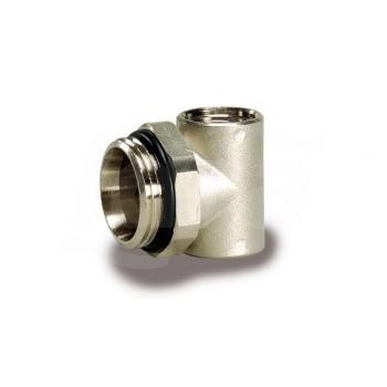 """Tc 488 Terminale Fisso collettore  Att.1/2""""-3/8""""  nichelato Da 1"""" LUX68503422"""