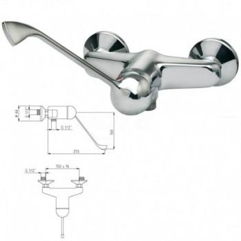 Miscelatore rubinetto monocomando per doccia, esterno, con leva clinica RUMC203L - Rubinetteria