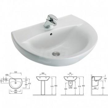 Patio lavabo (60x47 cm). Bianco KLR19490D-00