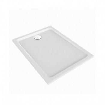 Piatto doccia antiscivolo in resin stone Melua Pozzi Ginori 140x90 cm h4 slim POG550.512.00.1