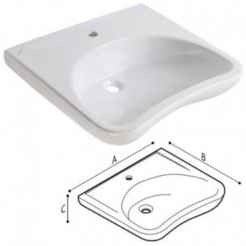 Casual Lavabo ergonomico 67X58X24 bianco Eur. PGUB40CMS07