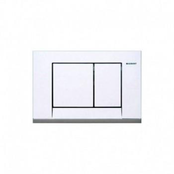 Placca di Scarico Bolero con 2 Pulsanti, bianca GEB115.777.11.1