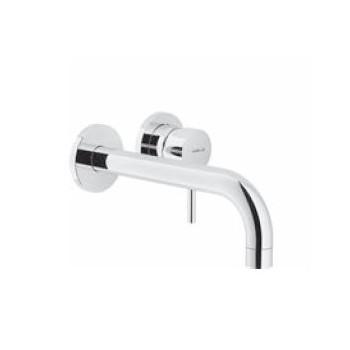 Live Miscelatore rubinetto lavabo a parete con bocca lunga - cromo LV00199/1CR - Per lavabi