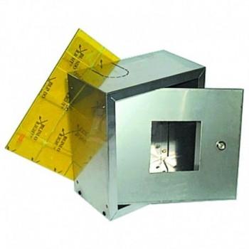 """Cassetta inox 390x350x180 x dispositivi da 1.1/4"""" - 3"""" 00000050452"""