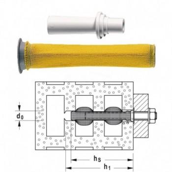 FIS H 20X85N Tassello a calza con adattatore FIS00050474