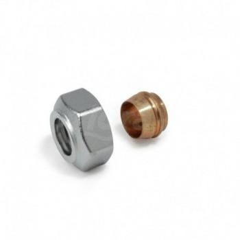 """R178E Adattatore per tubo di rame con filettatura Gas (1/2"""" o 3/4""""Eurocono) GIMR178EX115"""