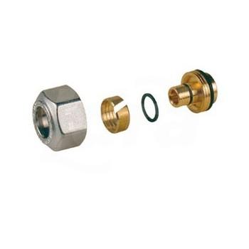Adattatore per tubi in plastica o multistrato R179MY030 - A pressare per multistrato