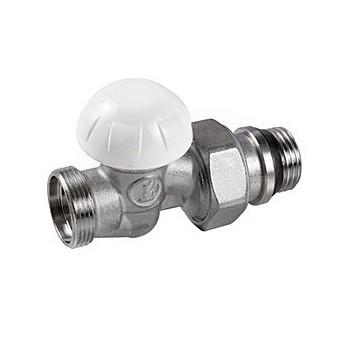 R31TG Detentore diritto, in ottone, cromato, con attacco per adattatore tubo rame, plastica o multistrato GIMR31X035